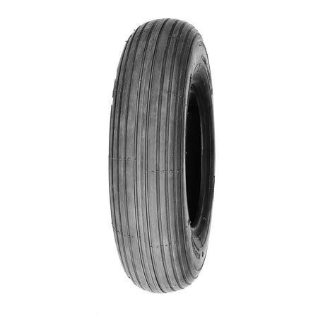 Deli Tire 3.00 - 4, Lawn Garden Tire, 4 Ply, Tubeless, Rib Tread 2 Ply Rib Tread