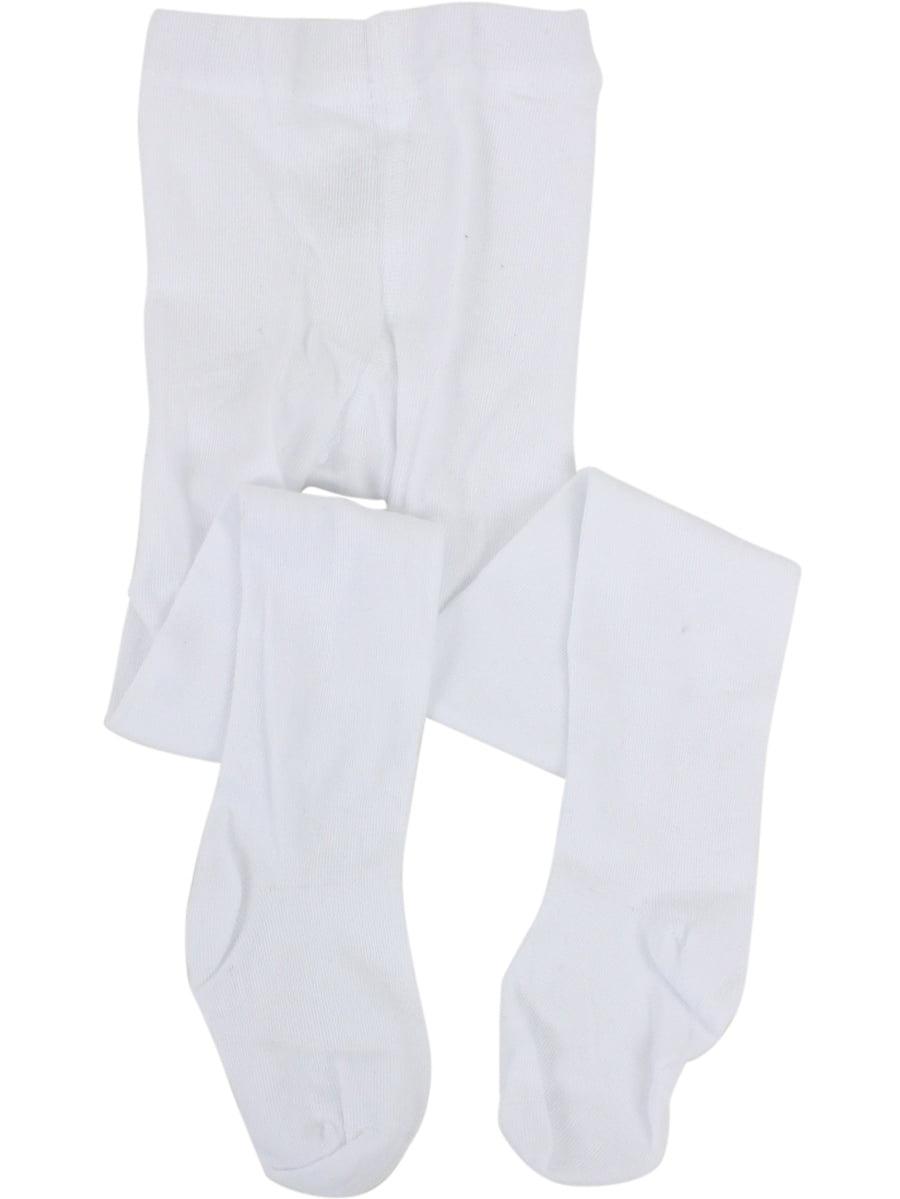 Stride Rite Toddler/Little Kid/Big Girl's White Comfort Seam Toe Tights