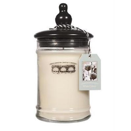 Bridgewater   White Cotton 18 Oz Jar Candle