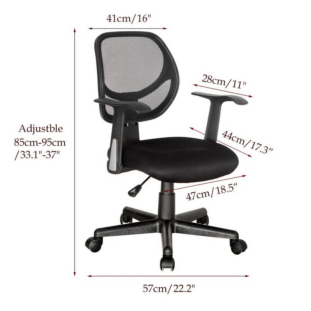 Big Clearance&Sale!Ergonomic Mesh Mid-Back Office Chair with Armrest Height Adjustable on  360° rotating castors FSBR