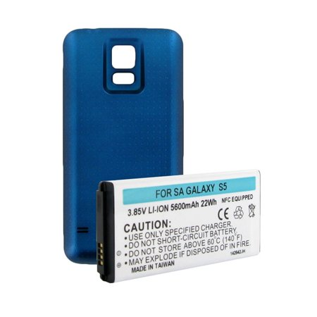 SAMSUNG GALAXY S5 EXTENDED BATTERY W/NFC BLUE COVER