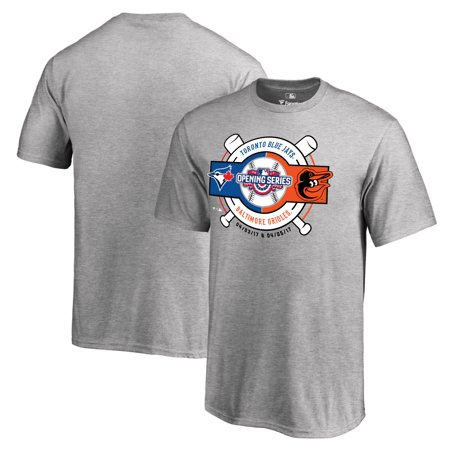 Toronto Blue Jays vs. Baltimore Orioles Fanatics Branded Youth 2017 Opening Series T-Shirt - Heather Gray - Halloween Baltimore 2017