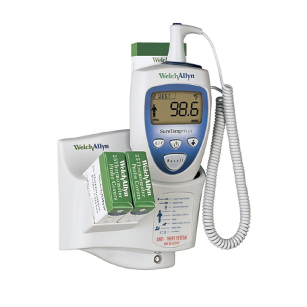 Welch Allyn 01692-300 SureTemp Plus 692 Electronic Thermometer with Wall Mount, Security System with ID Location Field,