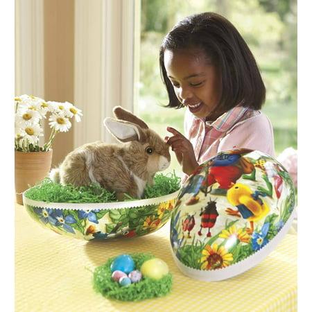 Plastic Easter Basket (Big-as-a-Basket Easter Egg with Hand-Applied Antique)