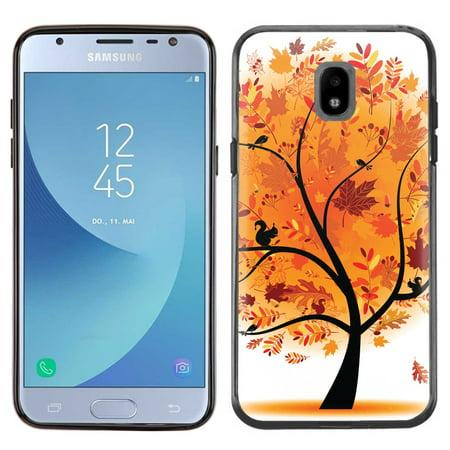 - Slim-Fit Case for Samsung Galaxy J3 Orbit, OneToughShield ® TPU (Black Bezel) Protective Phone Case - Golden Tree