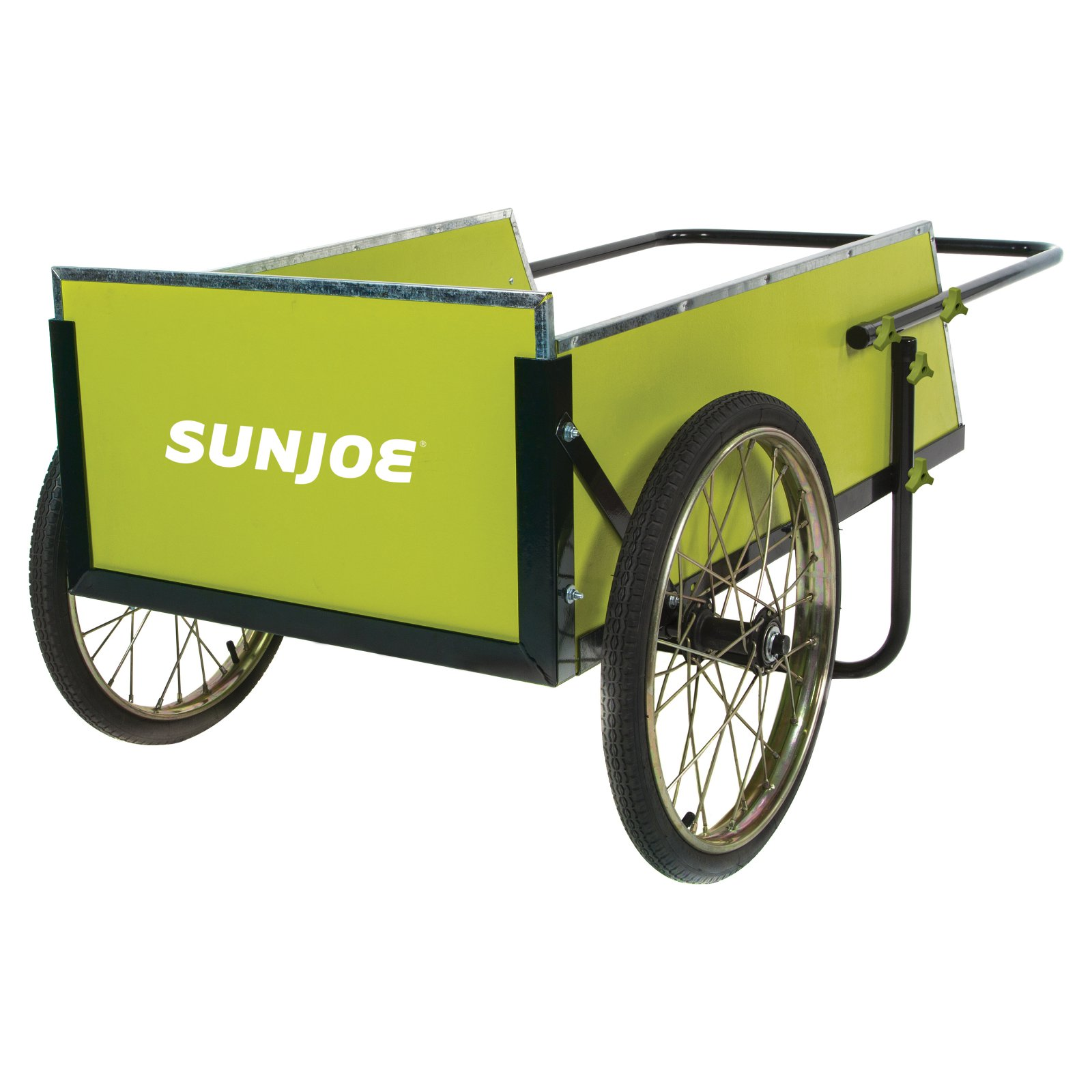 7 Cu. ft. Heavy Duty Garden and Utility Cart in Green and Black