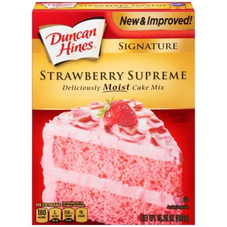 (2 Pack) Duncan Hines SIGNATURE LAYER CAKE MIX Strawberry Supreme 15.25