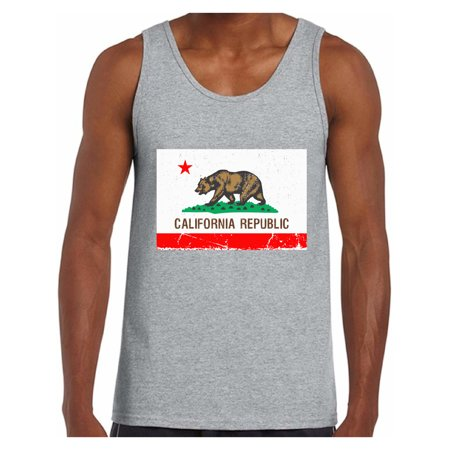 Awkward Styles California Republic Flag Tank Top for Men California Bear Tank California Flag Muscle Shirt Cali Gifts Men's California Fitness Tank Top Gifts from