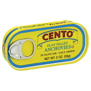 Cento Flat Filet Anchovies in Oil, 2 Oz