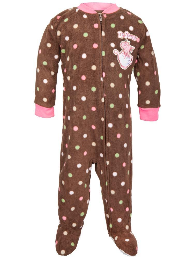 Dr. Seuss - One Fish Two Fish Brown Toddler Foot Pajamas