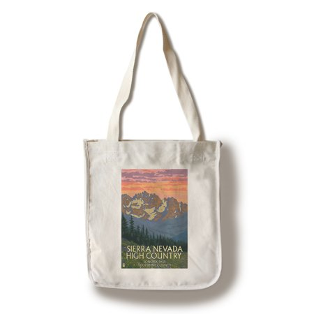 Sonora Spring - Sonora Pass, Tuolumne County - Sierra Nevada High Country - Spring Flowers - Lantern Press Artwork (100% Cotton Tote Bag - Reusable)