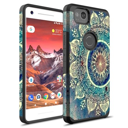 low priced 64d70 ac902 Google Pixel 2 Case, PIXEL 2 Cases, KAESAR Slim Sleek Hybrid Dual Layer  Shockproof Hard Cover Graphic Fashion Cute Colorful Silicone Skin For  Google ...