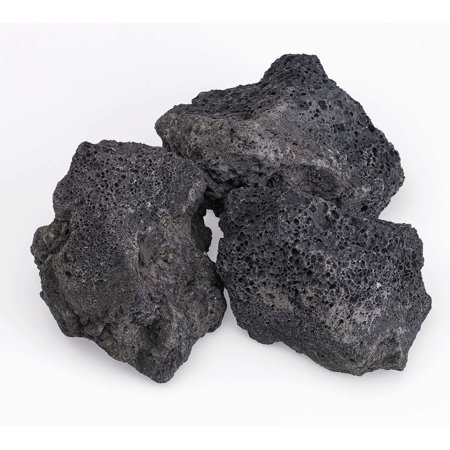 American Fireglass Black Lava Rock, 4