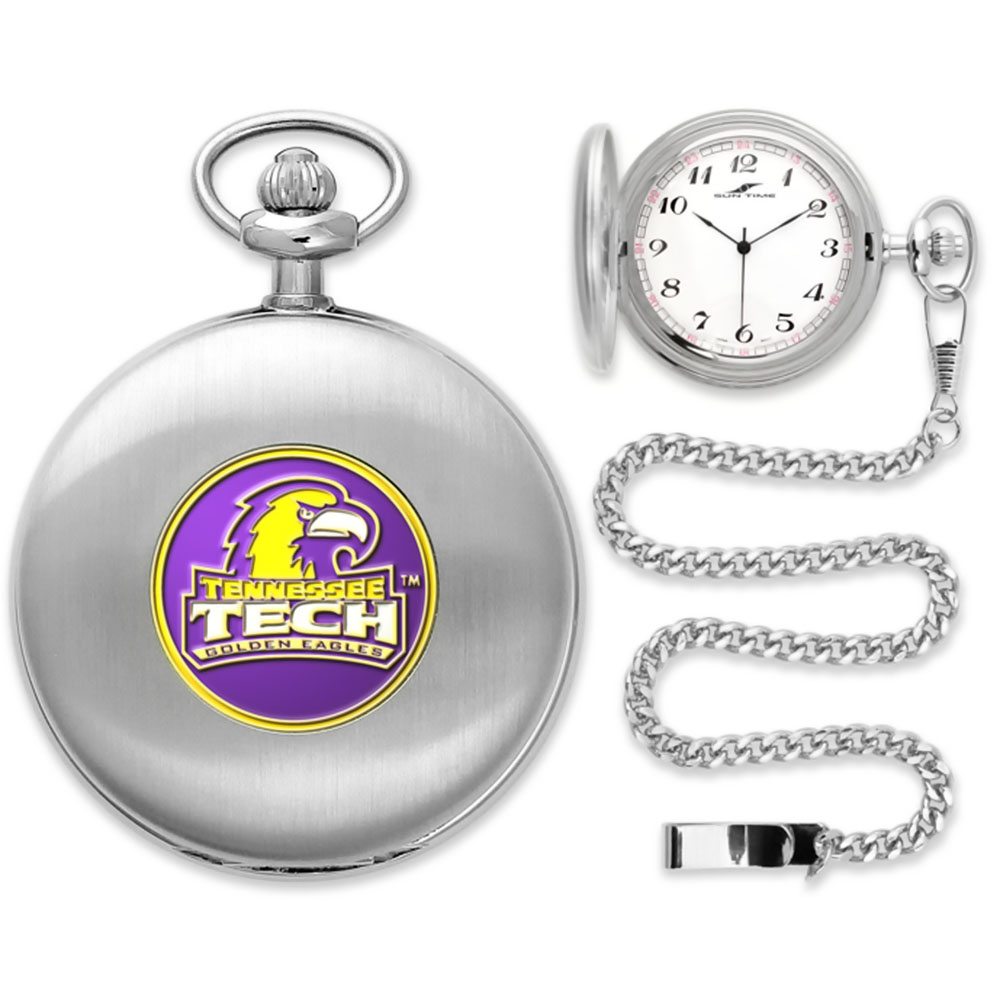 Tennessee Tech Golden Eagles NCAA Silver Pocket Watch