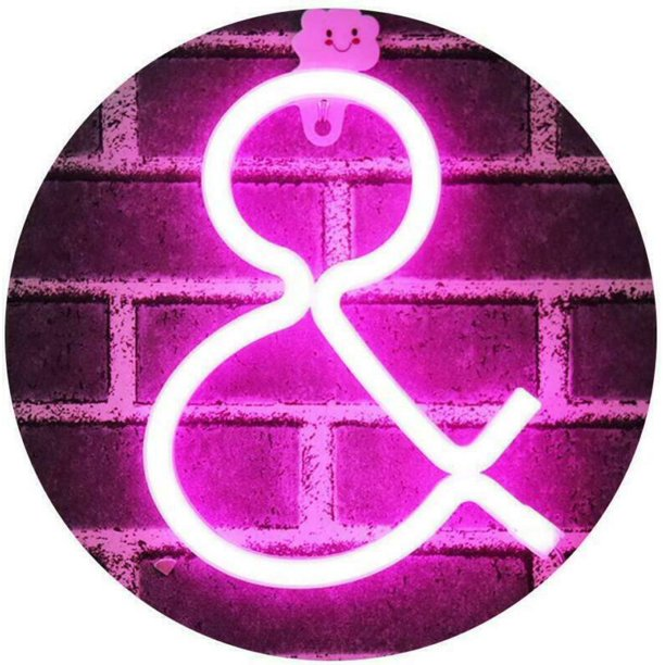 Obrecis Light Up Letters Neon Signs Pink Marquee Letters Lights Wall Decor For Walmart Com Walmart Com