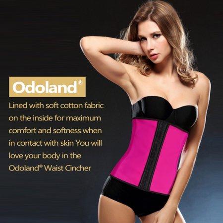 e1533228ec6 Odoland - Women Body Shaper Latex Sport Girdle Waist Training Corset Waist  Shaper Underbust Shapewear Size L-Rose - Walmart.com