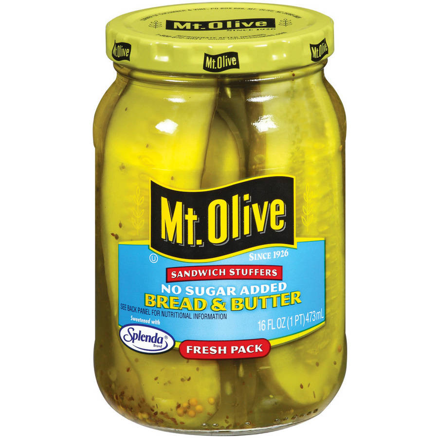 Mt. Olive Bread And Butter No Sugar Added Pickles Sandwich Stuffers, 16 fl oz by Mt. Olive Pickle Co Inc