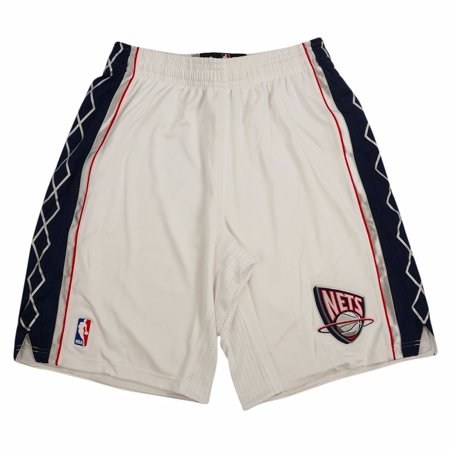 New Jersey Nets NBA Adidas White Authentic On-Court Climacool Team Game Shorts For Men
