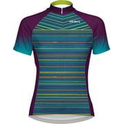 Primal Wear Kismet Women's Cycling Jersey: Blue/Green/Purple, XL