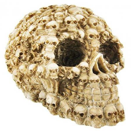 YTC Summit International Human Skull Decorated with Skeletons and Skulls Halloween Figurine](Halloween Decorated)