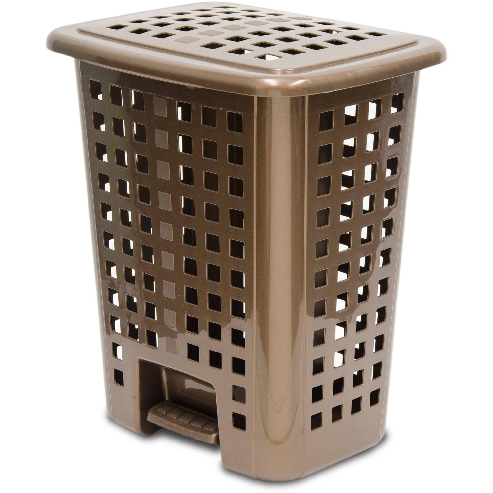 Home Logic Step-On Lidded Hamper, Bronze