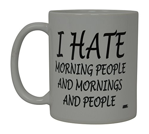 Best Funny Coffee Mug I Hate Morning People Bro Novelty Cup Joke Great Gag  Gift Idea