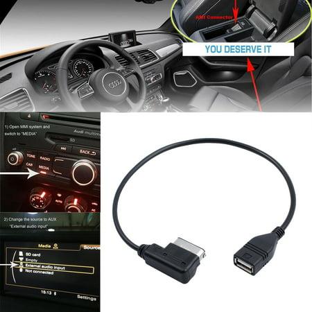 ESYNIC Interface AMI MDI MMI /USB Cable Adapter Music Interface for AUDI VW  A3 A4L A5 A6L S5 Q5 Q7 A8