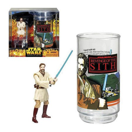 Star Wars Revenge of the Sith Target Exclusive Obi-Wan Kenobi Collector's Glass with Special 3 3/4 Inch Action