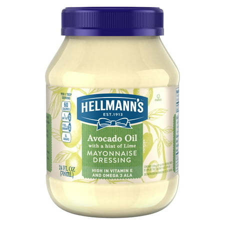 (2 Pack) Hellmann's Mayonnaise Dressing Avocado Oil with a hint of Lime 24