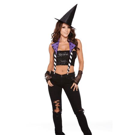 Halloween Wholesalers Rebel Suspender Costumes - Black & Purple](Halloween Song Purple)