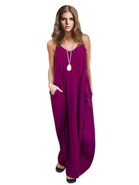 3aae98257fb Product Image Spaghetti Strap Sun Dress For Women V Neck Sleeveless Dress  Ladies Boho Style Long Maxi Loose