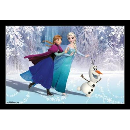 Frozen - Ice Skating Poster Print](Frozen Poster)