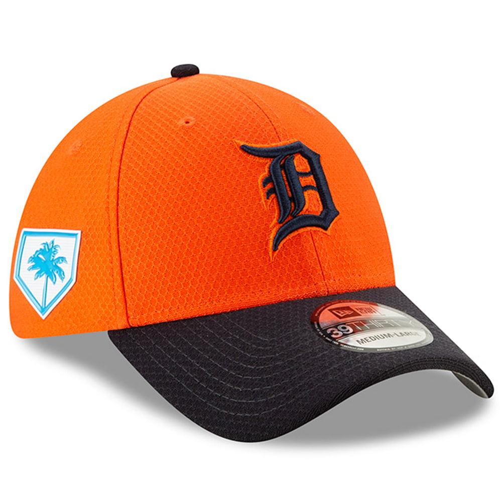 Detroit Tigers New Era 2019 Spring Training 39THIRTY Fitted Hat - Orange/Navy