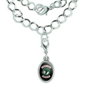 Riverdale South Side Serpents Silver Plated Bracelet with Antiqued Oval Charm