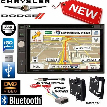 2009-2012 dodge ram jensen navigation double din dvd radio stereo bluetooth  bt - walmart com