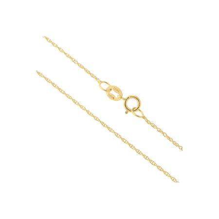 Delicate Gold Chain - 14k Yellow, White or Rose Gold Italian 0.90mm Delicate Rope Chain Necklace