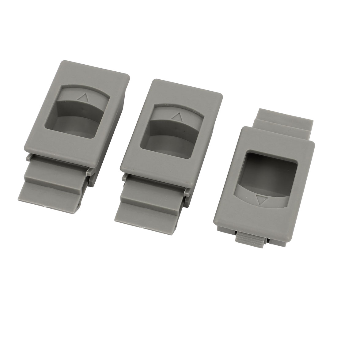 Window Door Inside Pull Rectangular Plastic Slide Latch Fittings 3pcs