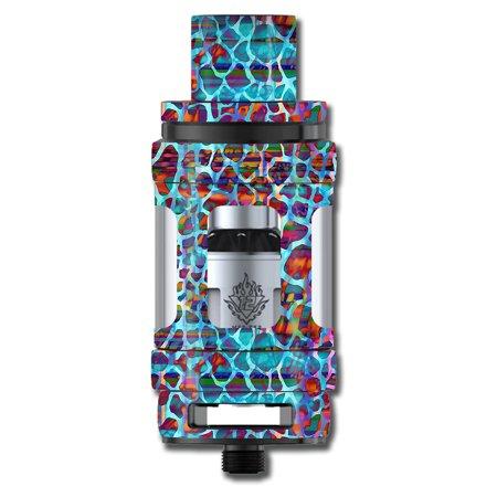 Skins Decals For Smok Tfv12 Cloud King Tank Vape Mod / Colorful Leopard Print ()