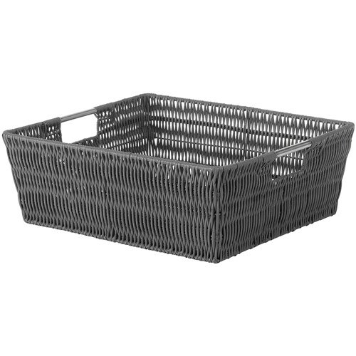 Whitmor Woven Strap Hamper With Liner Grey Walmart Com
