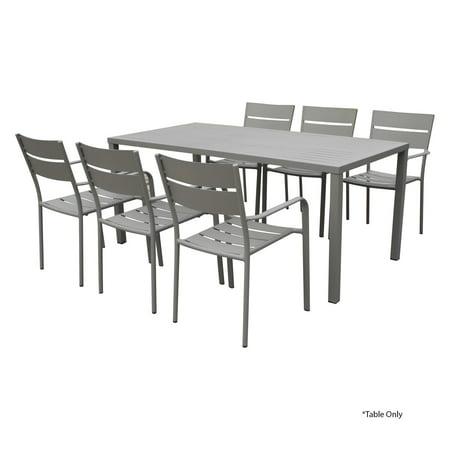 Awesome Pangea Home Miami Aluminum Patio Dining Table Interior Design Ideas Philsoteloinfo