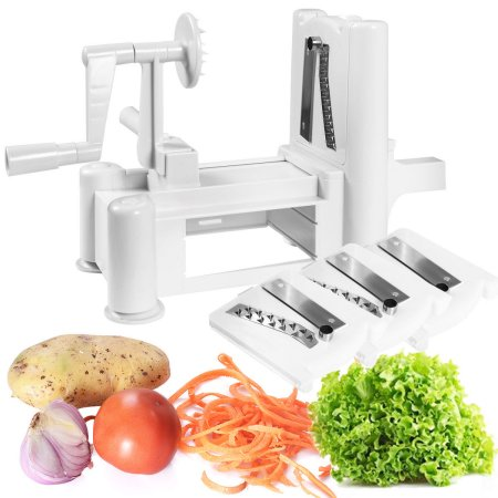 3-Blade Vegetable Slicer, Strongest-and-Heaviest Duty, Best Veggie Pasta & Spaghetti Maker for Low Carb Paleo... by