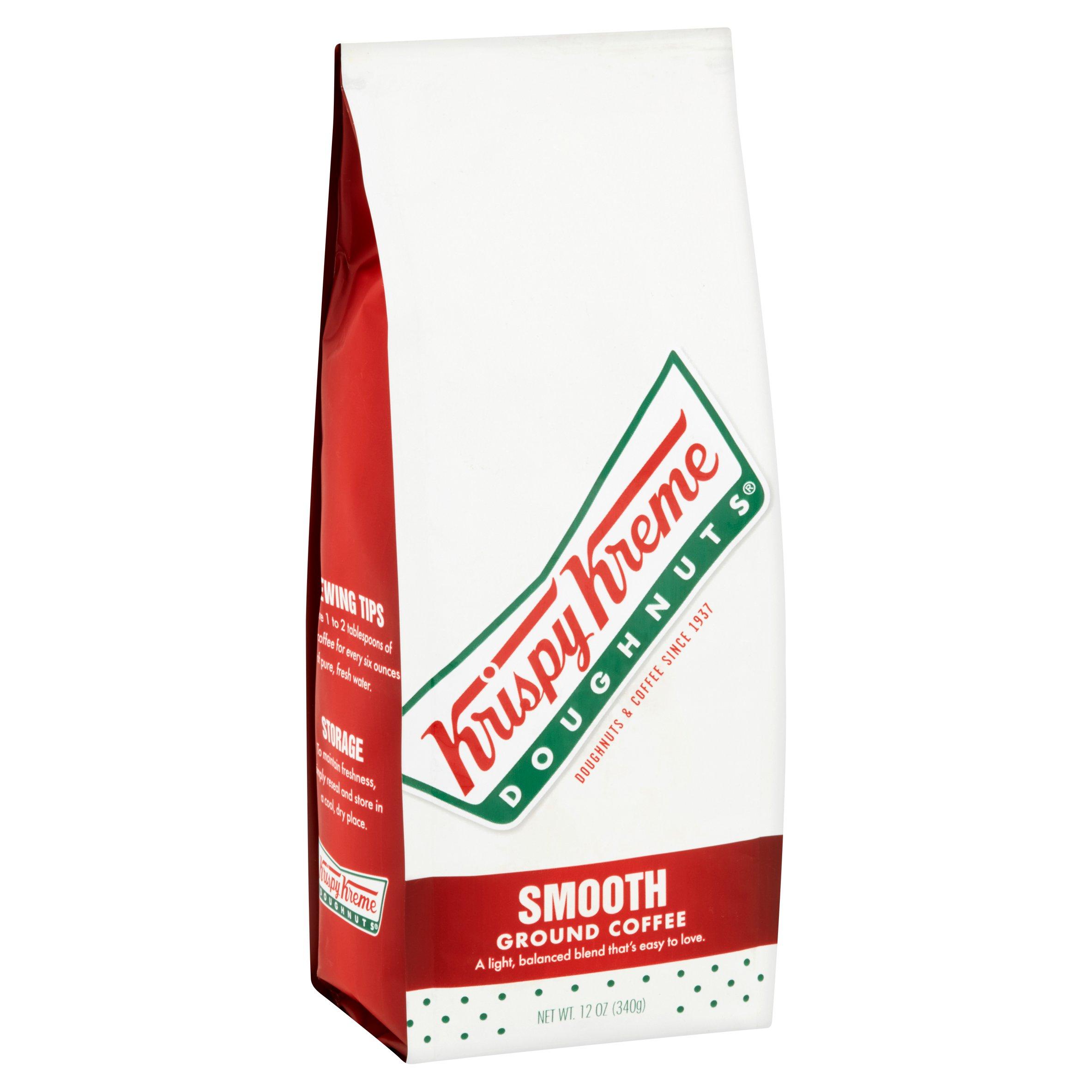 Krispy Kreme Doughnuts Coffee Smooth blend ground Pack of 4 12 ounce bag
