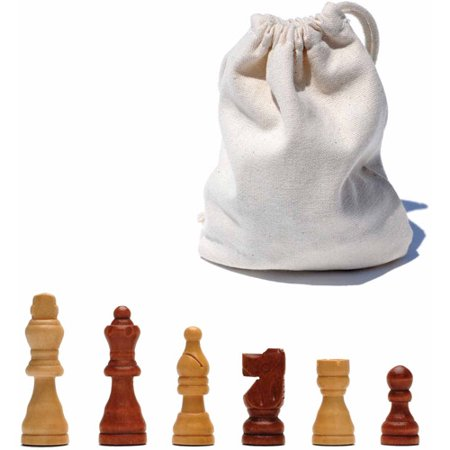 Tournament Staunton Chessmen Set - French Staunton Wood Chessmen with 2.5
