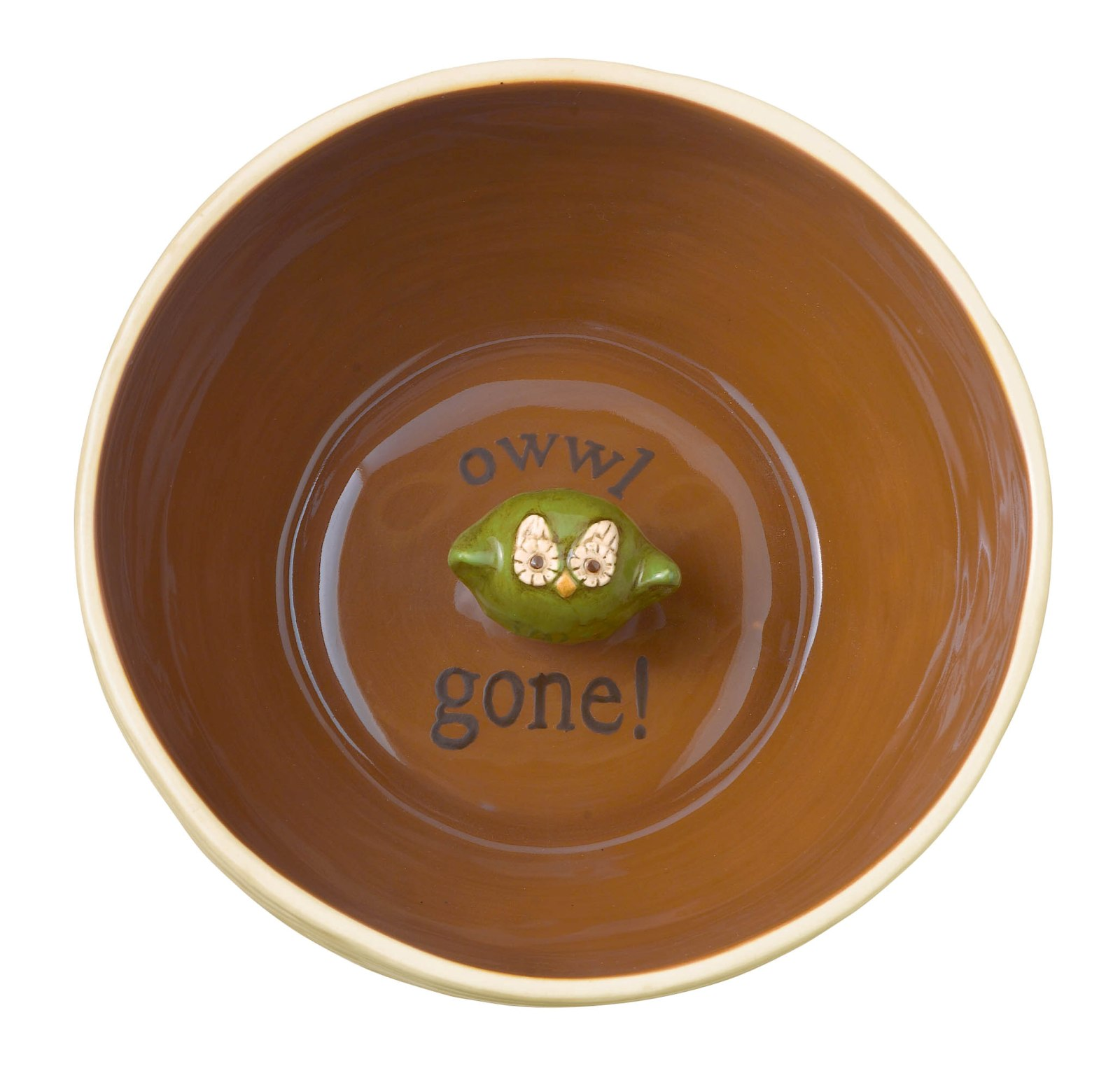 Crimson Hollow Owl Owwl Gone Ceramic Snack Bowl Grasslands Road