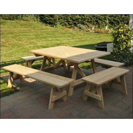 Terrific 43 X 60 Treated Pine Wide Picnic Tables With Traditional Andrewgaddart Wooden Chair Designs For Living Room Andrewgaddartcom