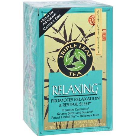 TRIPLE LEAF TEA Relaxing Herbal Tea 20 BAG