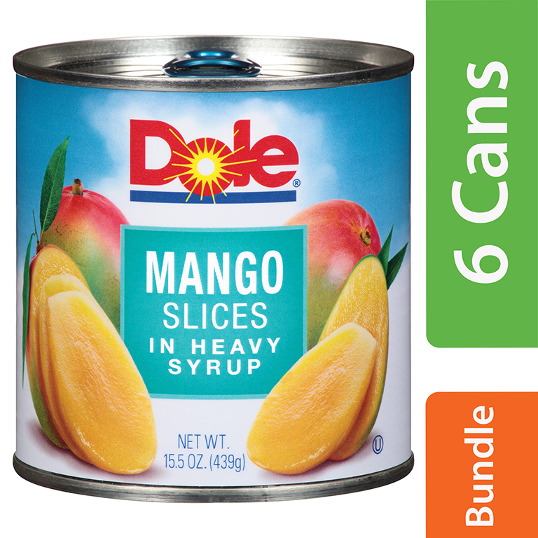 (6 Pack) Dole Mango Slices in Heavy Syrup 15.5 oz. Can