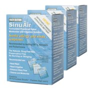 SinuAir Powdered Saline 90 Convenient Packets (Pack of 3 Boxes)