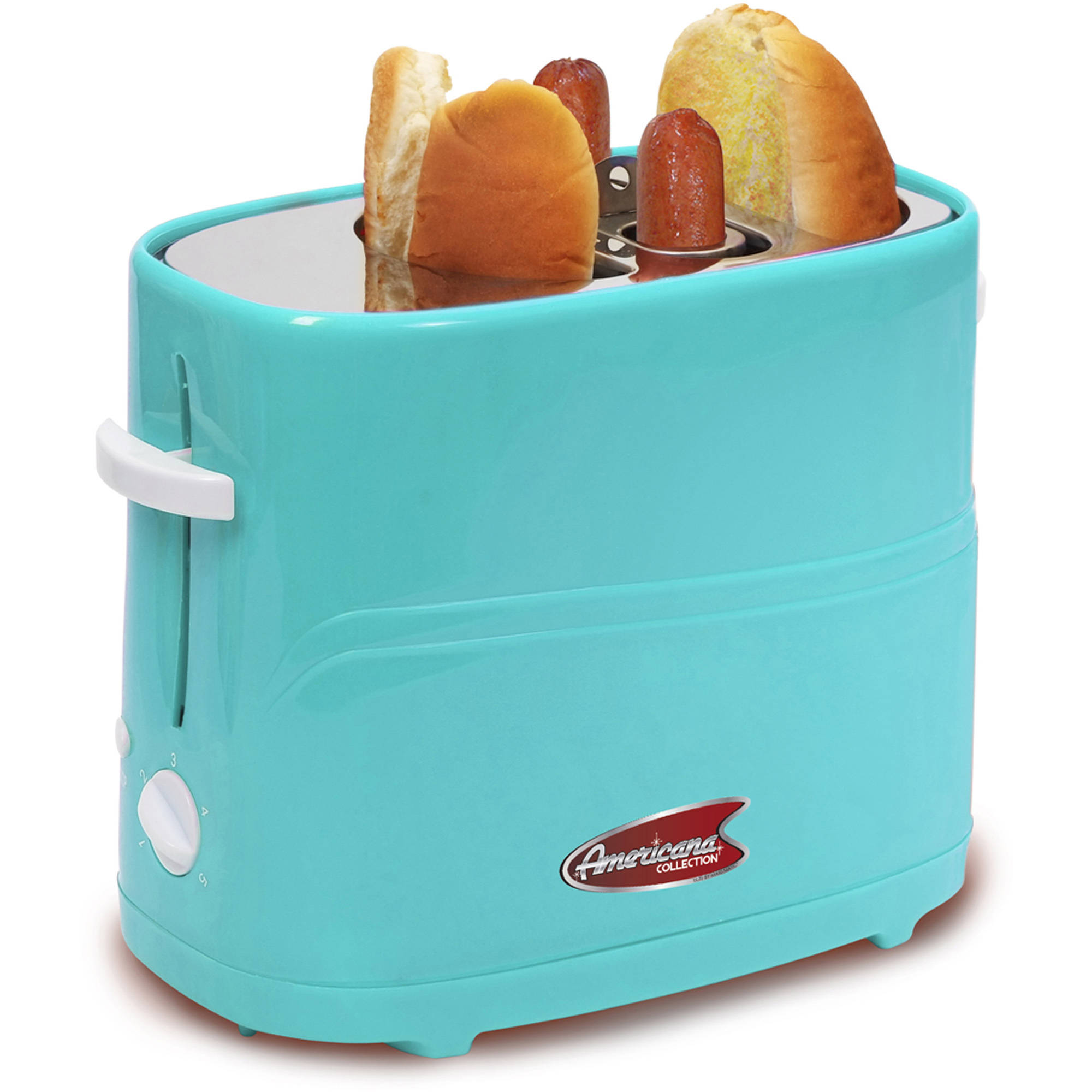 Elite Cuisine ECT-304BL Hot Dog Toaster, Mint Blue