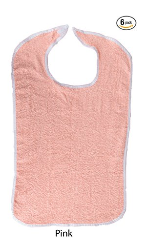 Girl Turtle on Over-the-Head Terry Cloth Bib